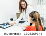 young girl at medical...   Shutterstock . vector #1308269146
