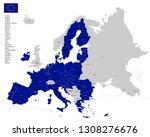 european union 2019 vector map... | Shutterstock .eps vector #1308276676