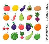 fruit and vegetable set. lemon  ...   Shutterstock .eps vector #1308284839