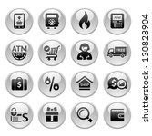 shopping icons  gray buttons... | Shutterstock .eps vector #130828904
