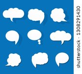 white paper bubbles for speech... | Shutterstock .eps vector #1308291430