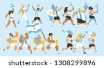 vector illustration of a group... | Shutterstock .eps vector #1308299896