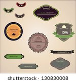 set of vector badges and... | Shutterstock .eps vector #130830008