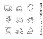 set line icons of transport | Shutterstock .eps vector #1308308473