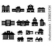 house black and white set | Shutterstock .eps vector #130831934