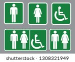 washroom sign   restroom symbol ... | Shutterstock .eps vector #1308321949