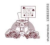 happy st patricks day label...   Shutterstock .eps vector #1308333553