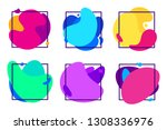 blur gradients shapes. organic... | Shutterstock .eps vector #1308336976