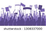 activists protest. political... | Shutterstock .eps vector #1308337000