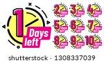 days left badges. going... | Shutterstock .eps vector #1308337039