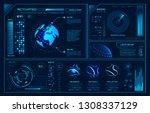 futuristic hud interface.... | Shutterstock .eps vector #1308337129