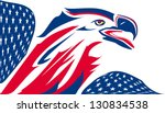 Eagle Stylized With Usa Flag