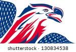 Eagle Stylized With Usa Flag