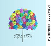 balloon tree | Shutterstock .eps vector #130834604
