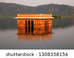 water palace  jal mahal  in man ... | Shutterstock . vector #1308358156