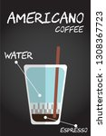 flat style cold americano... | Shutterstock .eps vector #1308367723
