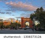 the arc de triomf or arco de... | Shutterstock . vector #1308373126