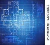 urban blueprint  vector .... | Shutterstock .eps vector #130838018