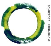 round watercolor frame  circle...   Shutterstock . vector #130838408