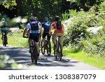 group of mountain bikers... | Shutterstock . vector #1308387079