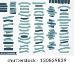 vector set of 75 ribbons