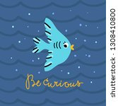 blue fish cute vector...   Shutterstock .eps vector #1308410800