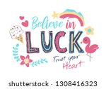 typography slogan with cute... | Shutterstock .eps vector #1308416323