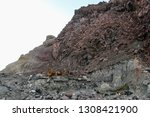 active volcano with sulphuric... | Shutterstock . vector #1308421900