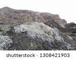active volcano with sulphuric... | Shutterstock . vector #1308421903