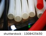 image of plastic pipes. | Shutterstock . vector #1308425650