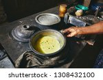 preparation rice and curry meal.... | Shutterstock . vector #1308432100