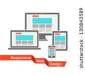 responsive web design | Shutterstock .eps vector #130843589