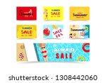 summer sales banner  tag...   Shutterstock .eps vector #1308442060