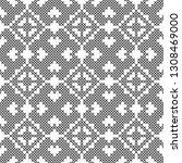 cross stitch  seamless... | Shutterstock .eps vector #1308469000