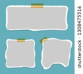 blank squared notepad pages and ... | Shutterstock .eps vector #1308475516