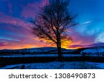 yorkshire dales  a winter's... | Shutterstock . vector #1308490873