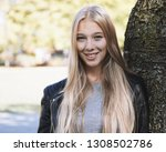 teenage woman with long blond...   Shutterstock . vector #1308502786