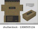 vintage golden elements on... | Shutterstock .eps vector #1308505126