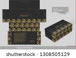 vintage golden elements on... | Shutterstock .eps vector #1308505129