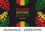african american history or... | Shutterstock .eps vector #1308525490