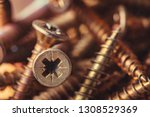 Macro Photo Of Screws. Set Of...