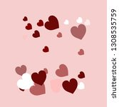 happy valentines day  sweet... | Shutterstock .eps vector #1308535759