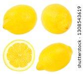 fresh lemon isolated on white...   Shutterstock . vector #1308543619