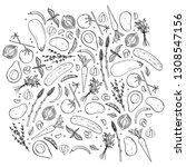 hand drawn vector illustrations ... | Shutterstock .eps vector #1308547156
