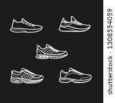 set of men's sport footwear... | Shutterstock .eps vector #1308554059