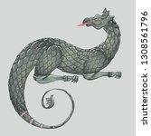 fantasy creature dragon.... | Shutterstock .eps vector #1308561796