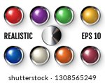 set of realistic colored... | Shutterstock .eps vector #1308565249