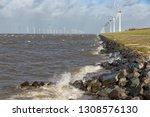 dutch sea with off shore wind...   Shutterstock . vector #1308576130