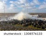 dutch sea with off shore wind...   Shutterstock . vector #1308576133