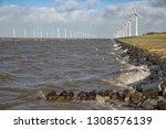 dutch sea with off shore wind...   Shutterstock . vector #1308576139